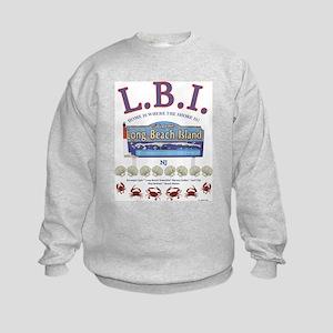 LONG BEACH ISLAND NEW JERSEY Kids Sweatshirt