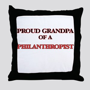 Proud Grandpa of a Philanthropist Throw Pillow