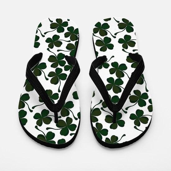 lucky clover Flip Flops