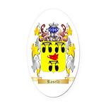Roselli Oval Car Magnet