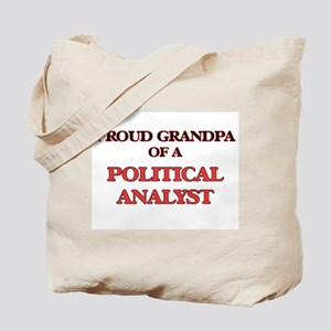 Proud Grandpa of a Political Analyst Tote Bag