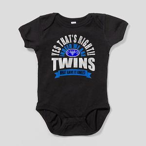 Funny twins Baby Bodysuit