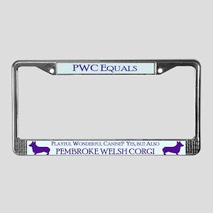 Pembroke Welsh Corgi License Plate Frame
