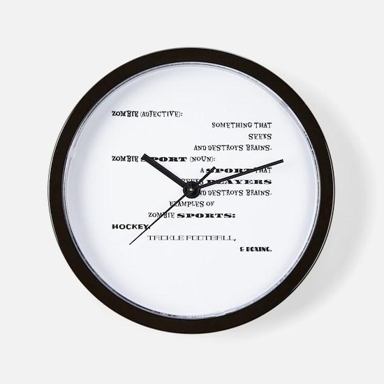 Cute Nouns Wall Clock