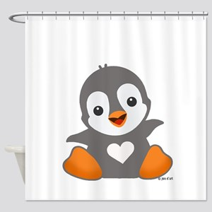 Poby Penguin Shower Curtain