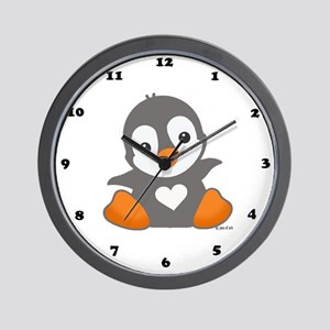 Poby Penguin Wall Clock