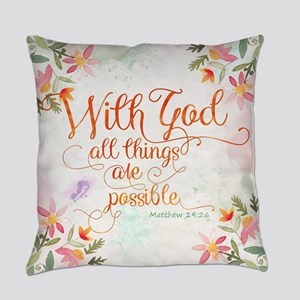 With God Everyday Pillow