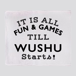 Wushu Fun And Games Designs Throw Blanket