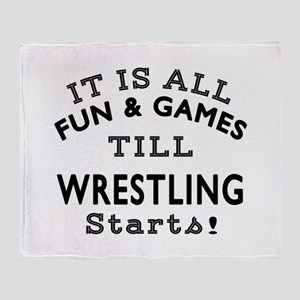 Wrestling Fun And Games Designs Throw Blanket