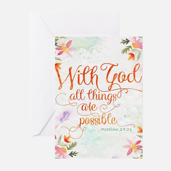 With God Greeting Cards