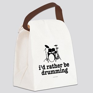I'd Rather Be Drumming Canvas Lunch Bag