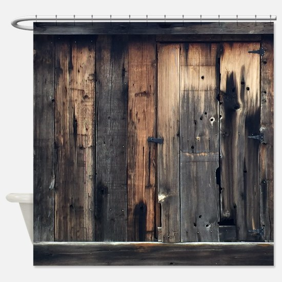 Cute Rustic Shower Curtain