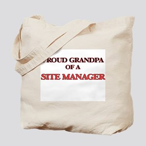 Proud Grandpa of a Site Manager Tote Bag