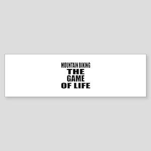 Mountain Biking The Game Of Life Sticker (Bumper)