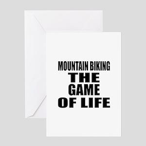 Mountain Biking The Game Of Life Greeting Card
