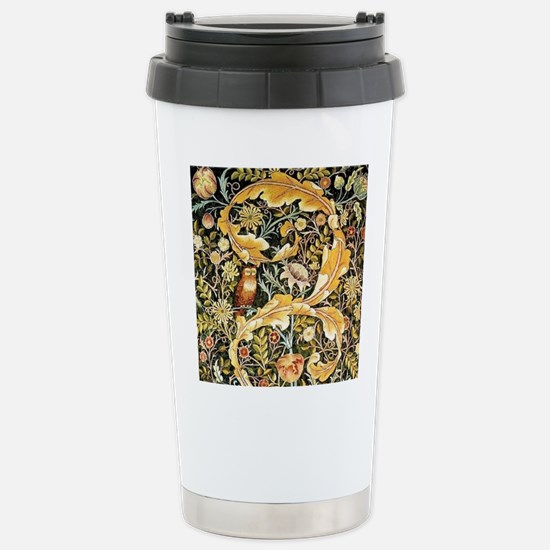 Wm Owl Stainless Steel Travel Mug