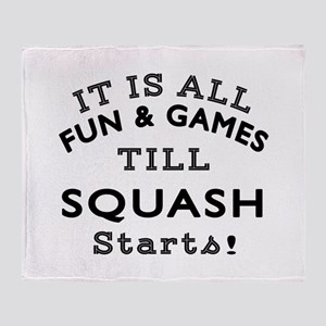 Squash Fun And Games Designs Throw Blanket