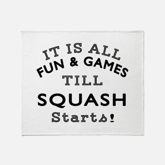 Squash Fun And Games Designs Throw Blanket