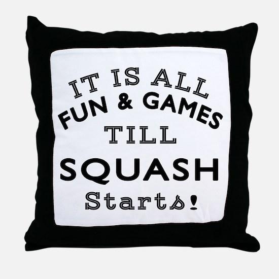Squash Fun And Games Designs Throw Pillow