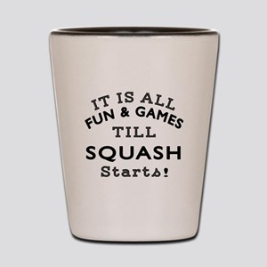 Squash Fun And Games Designs Shot Glass