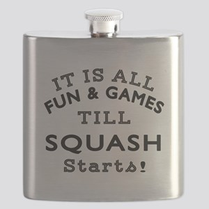Squash Fun And Games Designs Flask