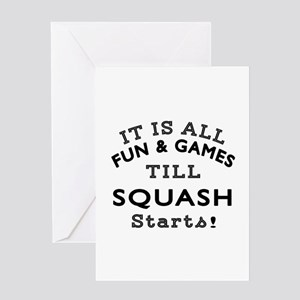 Squash Fun And Games Designs Greeting Card