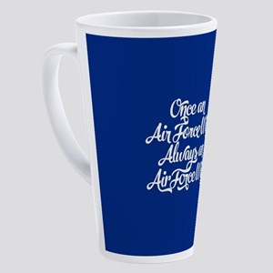 Once An Air Force Wife 17 oz Latte Mug