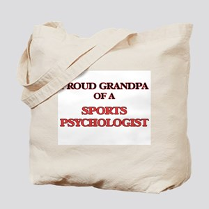 Proud Grandpa of a Sports Psychologist Tote Bag