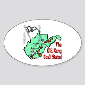 WV-Coal! Oval Sticker
