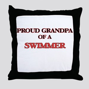 Proud Grandpa of a Swimmer Throw Pillow