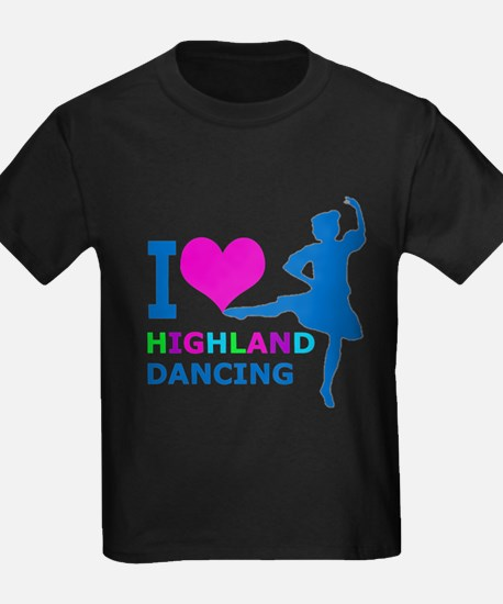 I LOVE highland dancing pink blue gr T-Shirt
