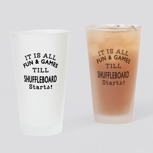 Shuffleboard Fun And Games DesignsS Drinking Glass