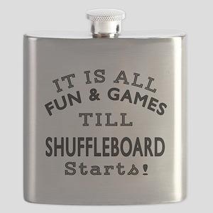 Shuffleboard Fun And Games DesignsShuffleboa Flask