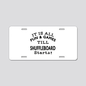 Shuffleboard Fun And Games Aluminum License Plate
