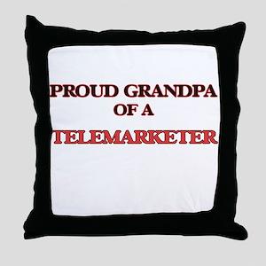 Proud Grandpa of a Telemarketer Throw Pillow