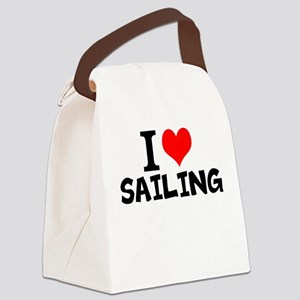 I Love Sailing Canvas Lunch Bag