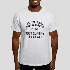 Rock Climbing Fun And Games Designs Light T-Shirt