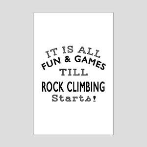 Rock Climbing Fun And Games Desi Mini Poster Print