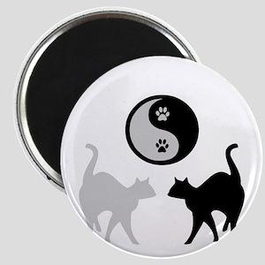 YIN YANG CATS PAWS Magnet