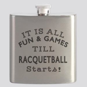 Racqetball Fun And Games Designs Flask