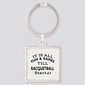 Racqetball Fun And Games Designs Square Keychain