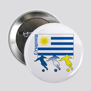 """Uruguay Soccer 2.25"""" Button (10 pack)"""