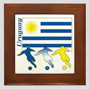 Uruguay Soccer Framed Tile