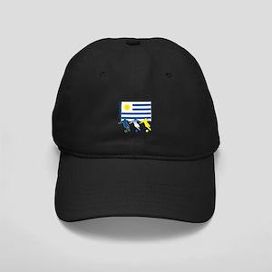 Uruguay Soccer Black Cap