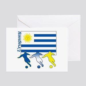 Uruguay Soccer Greeting Cards (Pk of 10)