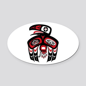 SPRING CALL Oval Car Magnet