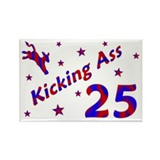 Kicking Ass *25* Rectangle Magnet