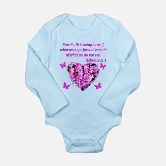 HEBREWS 11:1 Long Sleeve Infant Bodysuit