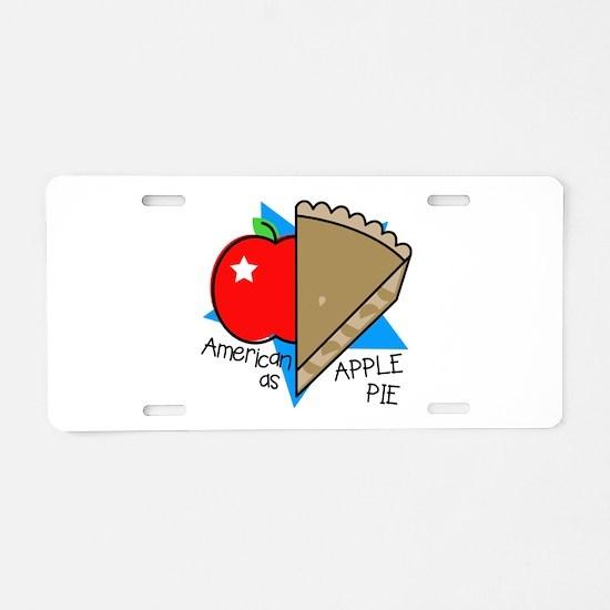 American Apple Pie Aluminum License Plate