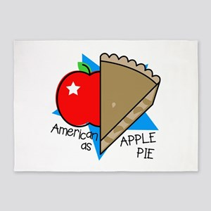American Apple Pie 5'x7'Area Rug